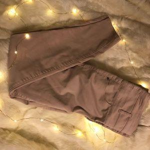 High waisted pink pants